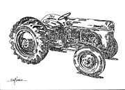 Ford 8n Tractor Print by Ken Nickle