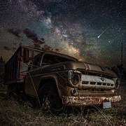 Abandoned Digital Art Prints - Ford Print by Aaron J Groen