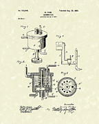 Ford Drawings - Ford Carburetor 1898 Patent Art by Prior Art Design