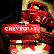 Antique Paintings - Ford Chevrolet by Robert Smith