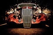 Ford Custom V8 Framed Prints - Ford Coupe Hotrod Framed Print by motography aka Phil Clark