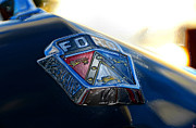Red White And Blue Digital Art Prints - Ford Crest Print by David Lee Thompson