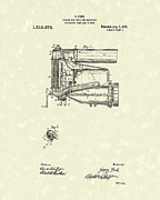 Radiator Drawings Posters - Ford Engine Assembly 1919 Patent Art Poster by Prior Art Design