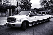 Limo Prints - Ford Excursion Stretched Limo Print by Olivier Le Queinec