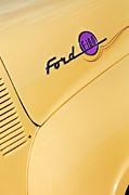 Autos Art - Ford F-100 Emblem Pickup Truck by Jill Reger