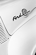 Old Ford Prints - Ford F-100 Pickup Truck Emblem Print by Jill Reger