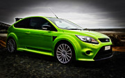 2010 Ford Focus Framed Prints - Ford Focus RS Framed Print by motography aka Phil Clark