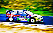 2010 Ford Focus Framed Prints - Ford Focus WRC Framed Print by motography aka Phil Clark