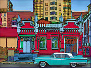 Ford Galaxy-town-victoria 1959 Print by Vladimir Kholostykh