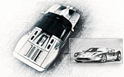 Carroll Shelby Art - Ford GT by Peter Chilelli