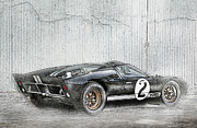 Champion Prints - Ford GT40 Print by Peter Chilelli