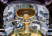 Gold Ford Prints - Ford Hood Ornament Print by Chris Dutton