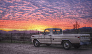 Purple Ford Photos - Ford in the Sunset by Brooke Clark