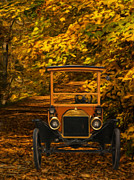 Ford Model T Car Digital Art Framed Prints - Ford Framed Print by Jack Zulli