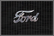 Mobiles Framed Prints - Ford Logo on radiator front Framed Print by Heiko Koehrer-Wagner
