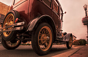Spoked Wheel Posters - Ford Model A - Classic Car - Antique Poster by Jason Politte