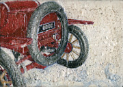 Mechanization Paintings - Ford Model T by Jacqueline Katherine Gomez
