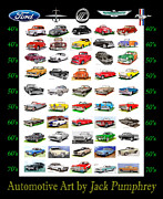 Fords Prints - Ford Motor Co Cars of the 40s 50s 60s 70s Print by Jack Pumphrey