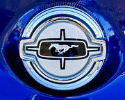Ford Mustang Metal Prints - Ford Mustang Gas Cap Metal Print by Jill Reger