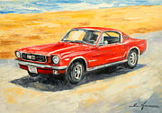 Ford Mustang Painting Framed Prints - Ford Mustang Framed Print by Luke Karcz