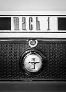 Photographs Prints - Ford Mustang Mach 1 Emblem Print by Jill Reger
