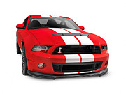 Super Car Prints - Ford Mustang Shelby GT500 sports car Print by Oleksiy Maksymenko