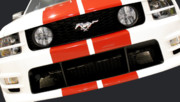 Headlights Prints - Ford Mustang - This Pony is Always In Style Print by Christine Till