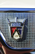 Photographs Framed Prints - Ford Skyliner Emblem Framed Print by Jill Reger