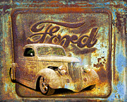 Graffitti Coupe Prints - Ford Print by Steve McKinzie