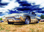 Ford Custom V8 Framed Prints - Ford Thunderbird HDR Framed Print by Phil