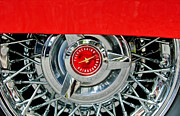 Ford Automobiles Framed Prints - Ford Thunderbird Wheel Emblem Framed Print by Jill Reger