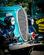 Classic Truck Photos - Ford Towing by Perry Webster