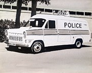 Police Car Paintings - Ford Transit Cop Van by Sid Fox