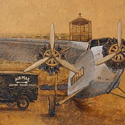 Ford Tri-motor Framed Prints - Ford Tri-motor US Mail Framed Print by Michelle Rouch