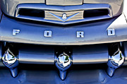Truck Detail Prints - Ford V8 Truck Front End Print by Jill Reger