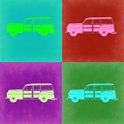 Muscle Mixed Media Metal Prints - Ford Woody Pop Art  Metal Print by Irina  March
