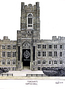 College Buildings Drawings Mixed Media Originals - Fordham by Frederic Kohli