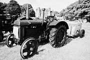 Rally Prints - fordson model N standard tractor during vintage tractor rally at glenarm castle open day county antrim northern ireland Print by Joe Fox