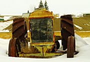 Small Town Life Art - Fordson Tractor Plentywood Montana by Jeff  Swan
