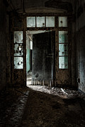 Abandoned Buildings Prints - Foreboding Doorway Print by Gary Heller