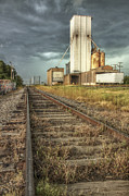 Conway Arkansas Prints - Foreboding Sky Above a Prairie Sentinel - Storm - Railroad Tracks Print by Jason Politte