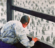 People Watching Paintings - Foreign Correspondent by Graham Dean
