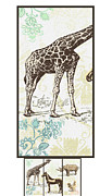 Fauna Mixed Media Originals - Forest Animals group suitable for hanging Frames by Art World