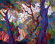 Forest Deep Print by Erin Hanson