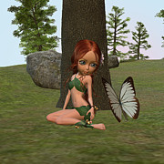 Design Windmill - Forest Elf Girl and...