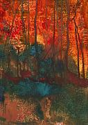 Anneke Hut Art - Forest Fire by Anneke Hut