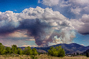 Twisp Photo Prints - Forest Fire South of Twisp Print by Omaste Witkowski
