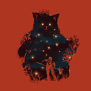 Cartoon Monster Prints - Forest Guardian Print by Budi Satria Kwan