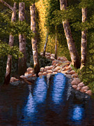 Light Of The World Paintings - Forest Light by Brad Haugaard