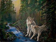 Wolf Creek Originals - Forest mates by Sherry Shipley